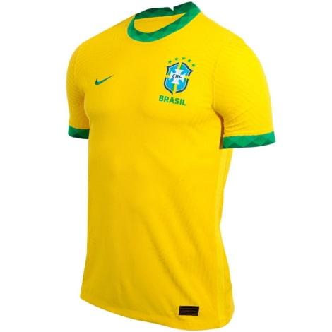 Домашняя аутентичная футболка сборной Бразилии 2020-2021