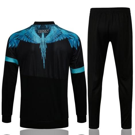 Черно-голубой спортинвый костюм Наполи 2021-2022 сзади