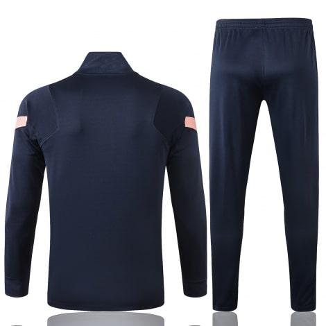 Сине-розовый спортинвый костюм Тоттенхэма 2021-2022 сзади