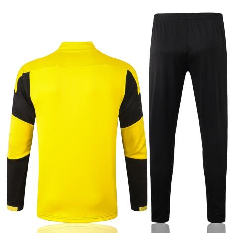 Черно-желтый костюм Боруссии Дортмунд 2021-2022 сзади