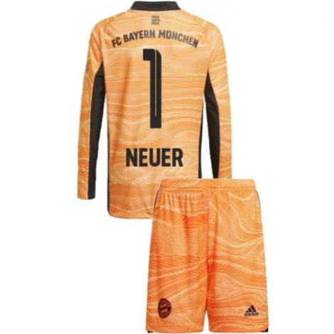Оранжевая форма Мануэль Нойер с длинными рукавами 2021-2022