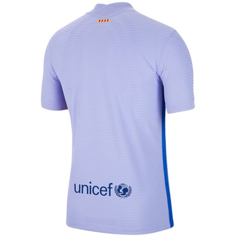 Комплект взрослой гостевой формы Барселоны 2021-2022 футболка сзади