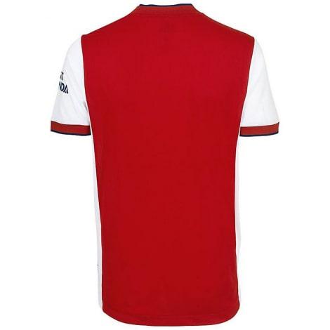 Комплект взрослой домашней формы Арсенала 2021-2022 футболка сзади