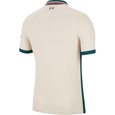 Гостевая аутентичная футболка Ливерпуля 2021-2022 сзади