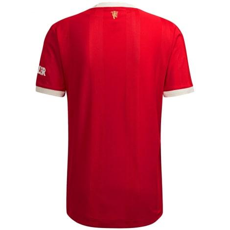 Домашняя аутентичная футболка Манчестер Юнайтед 2021-2022 сзади
