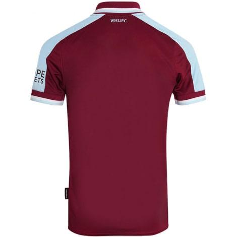 Комплект взрослой домашней формы Вест Хэм 2021-2022 футболка сзади