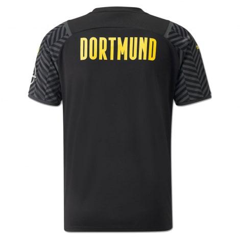 Гостевая игровая футболка Боруссии Дортмунд 2021-2022 сзади