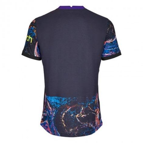 Гостевая аутентичная футболка Тоттенхэма 2021-2022 сзади