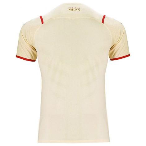 Детская гостевая футбольная форма Милан 2021-2022 футболка сзади