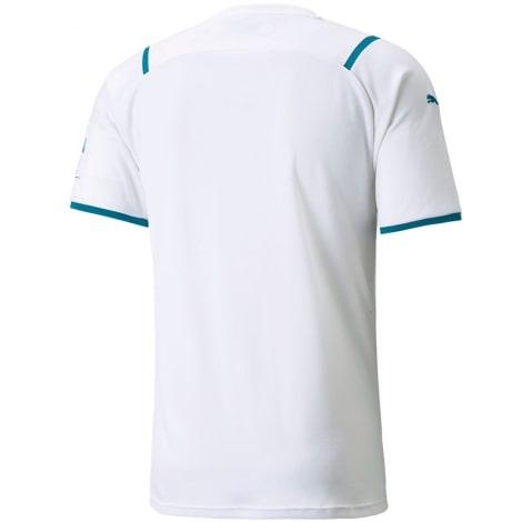 Гостевая игровая футболка Манчестер Сити 2021-2022 сзади