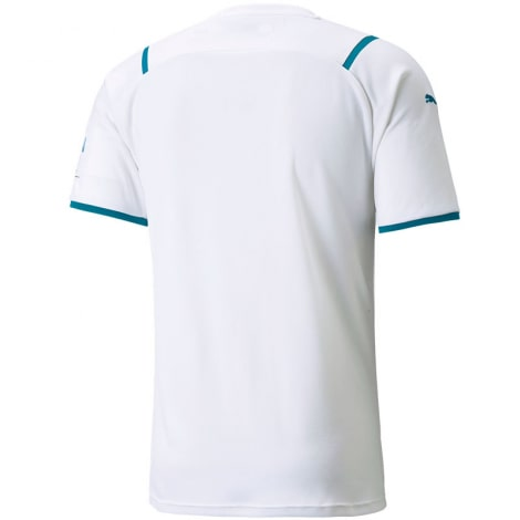 Детская гостевая форма Манчестер Сити 2021-2022 футболка сзади