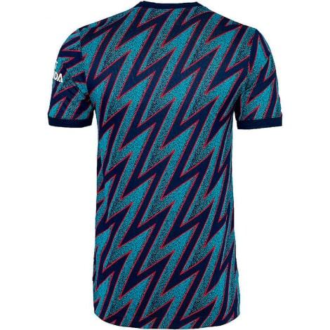 Третья аутентичная футболка Арсенала 2021-2022 сзади