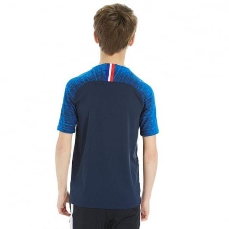 Детская домашняя футбольная форма Франции на ЧМ 2018 сзади