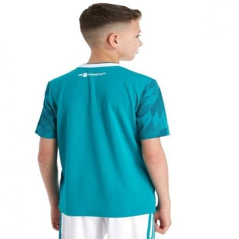 Детская гостевая футбольная форма Германии на ЧМ 2018 сзади