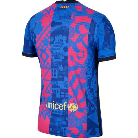 Третья игровая футболка Барселоны 2021-2022 сзади
