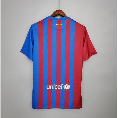 Домашняя игровая футболка Барселоны 2021-2022 сзади