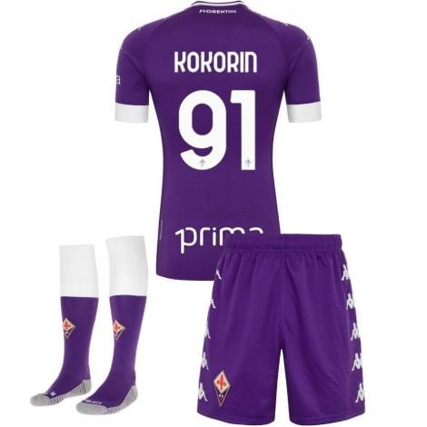 Детская домашняя футбольная форма Кокорин 2020-2021 футболка шорты и гетры