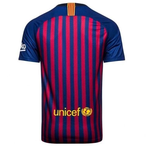 Домашняя футболка Барселоны 2018-2019 сзади