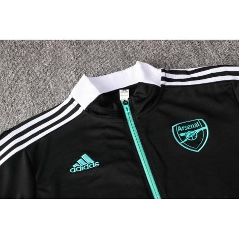 Черный спортивный костюм Арсенал 2021-2022 вблизи