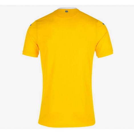 Домашняя футболка сборной Румынии по футболу 2021-2022 сзади