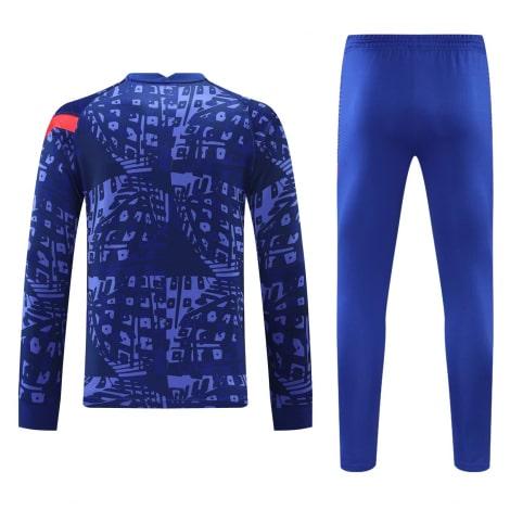 Синий тренировочный костюм Челси 2021-2022 сзади