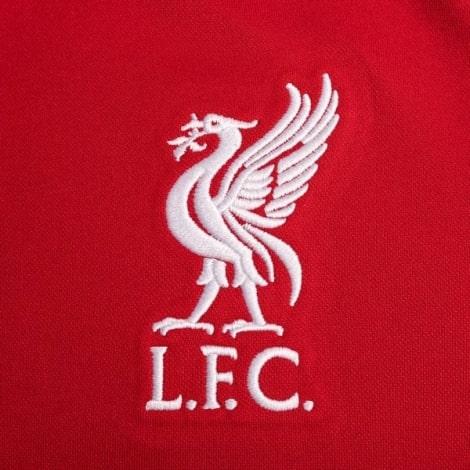 Детская домашняя футбольная форма Салах 2020-2021 футболка герб клуба