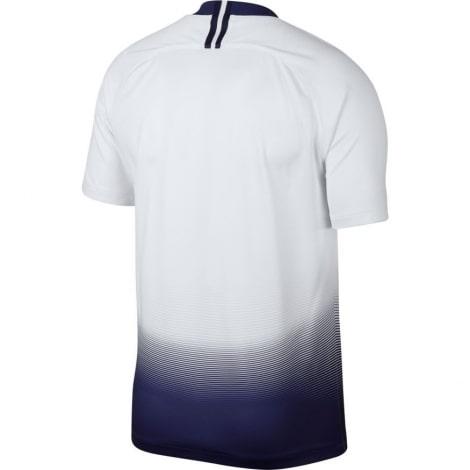 Домашняя игровая футболка Тоттенхэма 2018-2019 бело синяя сзади
