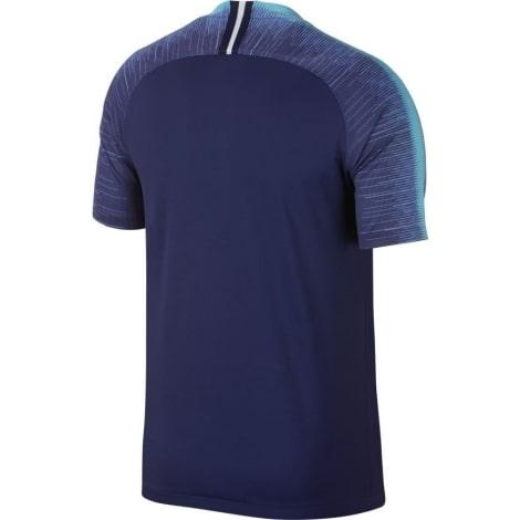 Гостевая игровая футболка Тоттенхэма 2018-2019 темно синяя сзади