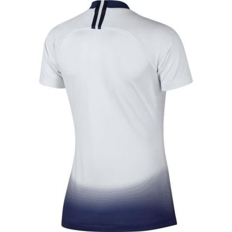 Женская домашняя футболка Тоттенхэма 2018-2019 бело голубая сзади
