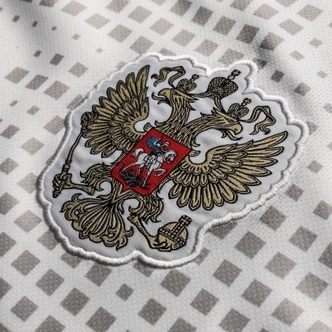 Гостевая футболка сборной России Денис Черышев ЧМ 2018 номер 6 герб