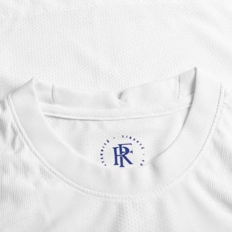 Гостевая аутентичная футболка Франции на ЕВРО 2020-21 воротник