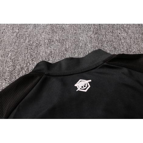 Черный спортивный костюм Арсенал 2021-2022 воротник сзади