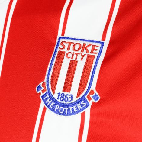 Домашняя игровая футболка Сток Сити 2020-2021 герб клуба