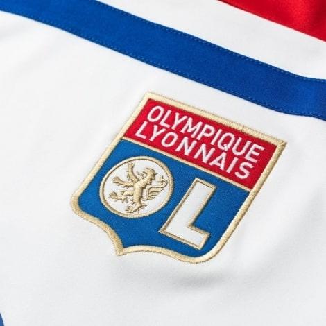 Домашняя игровая футболка Лион 2018-2019 герб клуба