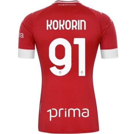 Третья футболка Фиорентины 2020-2021 Кокорин номер 91