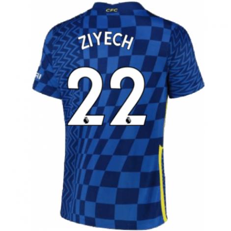 Домашняя игровая футболка Челси Хаким Зиеш 2021-2022
