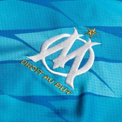 Комплект детской третьей формы Марселя 2019-2020 футболка герб клуба
