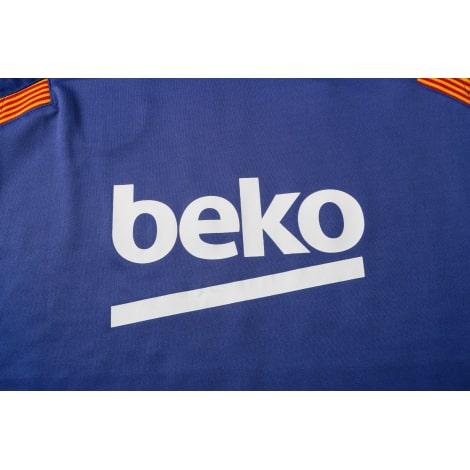 Синяя тренировочная форма Барселоны 2021-2022 титульный спонсор сзади