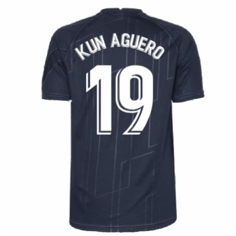 Черная тренировочная футболка Барселоны Агуэро 2021-2022