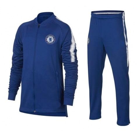 Взрослый синий тренировочный костюм Челси 2018-2019 кофта и штаны