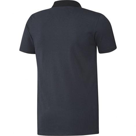 Синяя футболка поло Манчестер Юнайтед 2018-2019 сзади