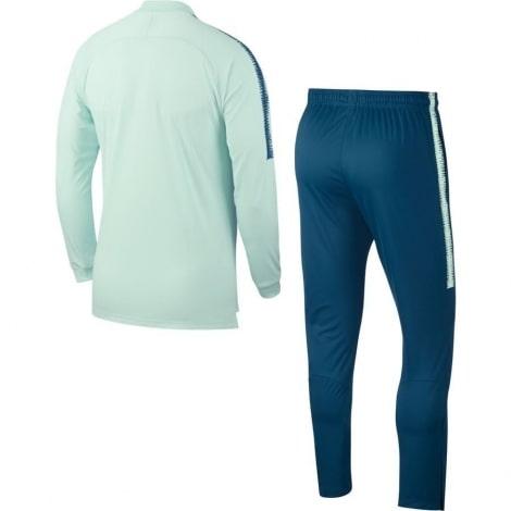 Взрослый салатово-синий костюм Атлетико Мадрид 18-19 сзади