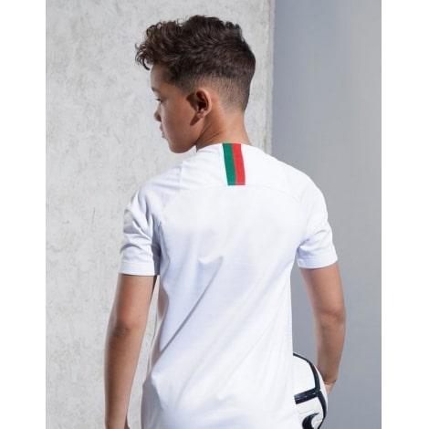 Детский комплект гостевой футбольной формы Португалии на ЧМ 2018 сзади