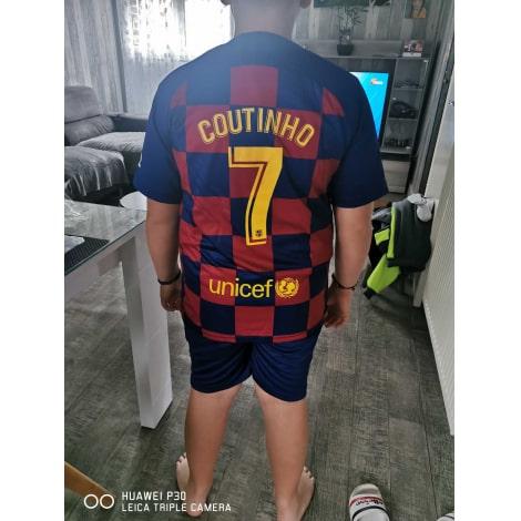 Домашняя игровая футболка Барселоны 2019-2020 сзади