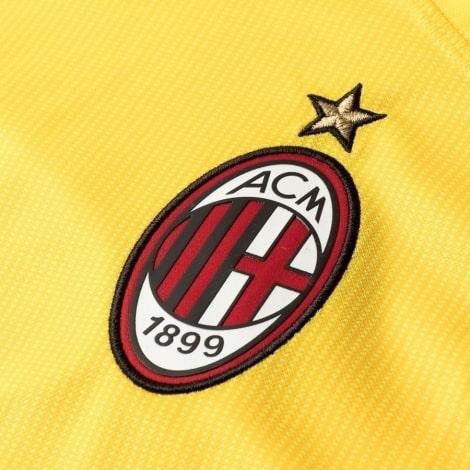 Вратарская домашняя футболка Милана 2018-2019 герб клуба