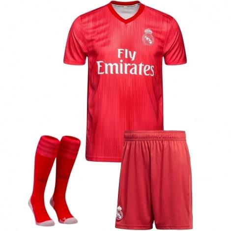 Детская третья футбольная форма Рафаэль Варан 2018-2019 футболка шорты и гетры спереди