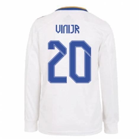 Домашняя форма Реала с длинными рукавами 2021-2022 Винисиус