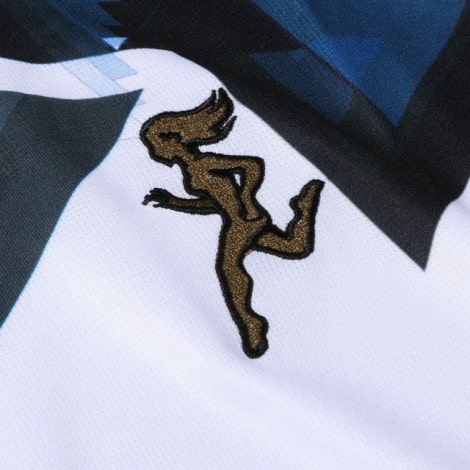 Комплект взрослой гостевой формы Аталанта 2020-2021 футболка логотип