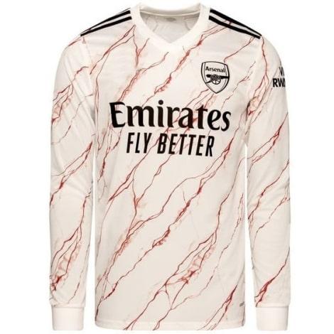 Гостевая форма Арсенала 2020-2021 c длинными рукавами футболка