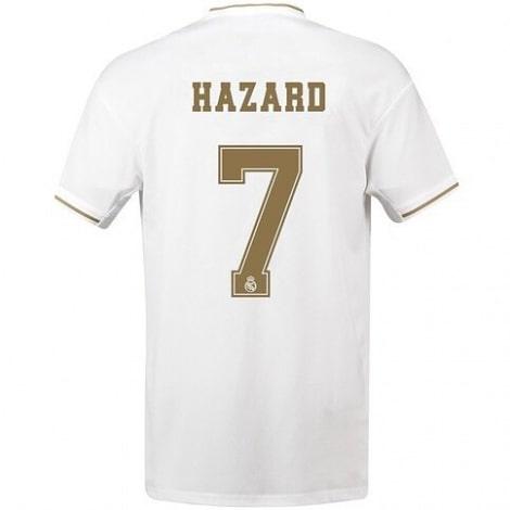 Детская домашняя футбольная форма Эден Азар 2019-2020 футболка сзади